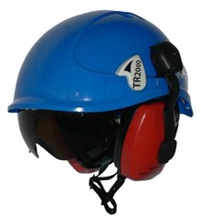 Tractel TR2000 Blue with Visor & Ear Defenders