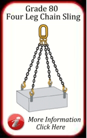 Four Leg Chain Slings Grade 80